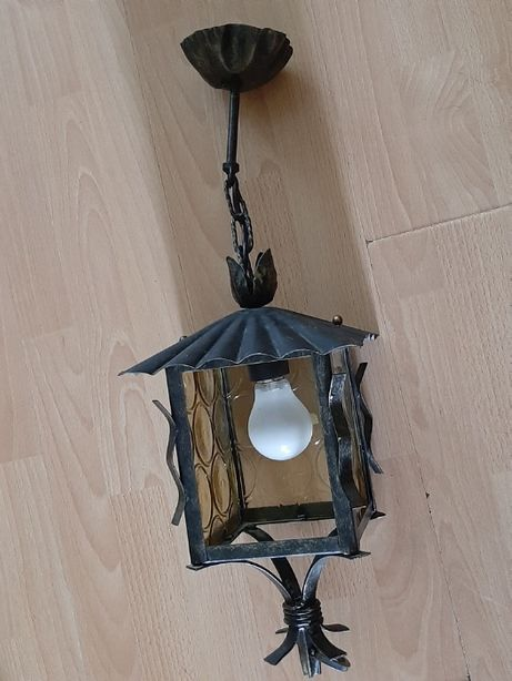 Lampa ogrodowa metalowa