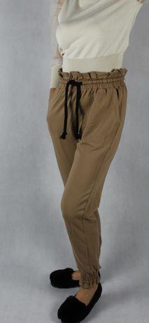Spodnie dresowe bawełniane wysoki stan