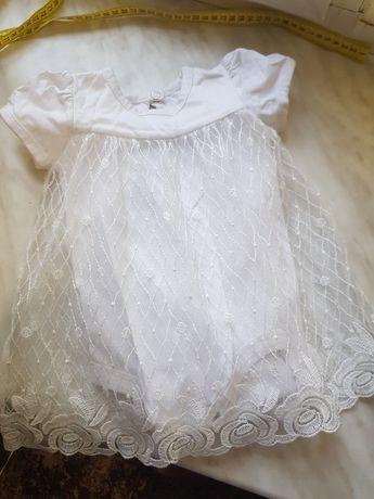 Детское платье и кофта на  3-6 месяцев. В отличном состоянии