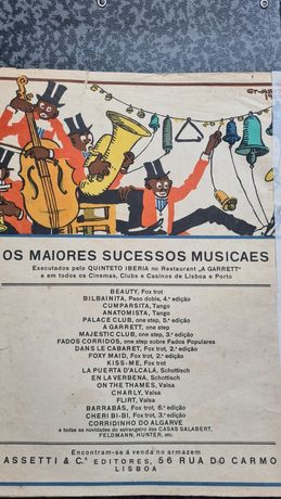 Antiga partitura de paso-doble com desenho de Stuart