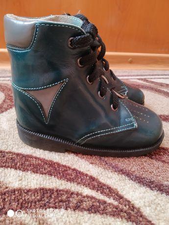 Ортопедические кожаные ботинки, сапожки 15 см