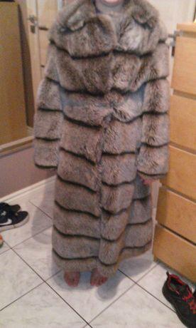 Futro sztuczne M długie szare Sukienka Zara czarna gratis