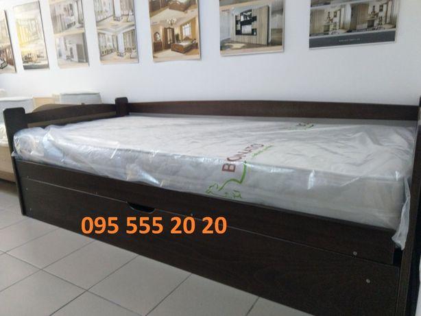 Детская кровать с подъемным механизмом, нишей, дерево бук 90*200