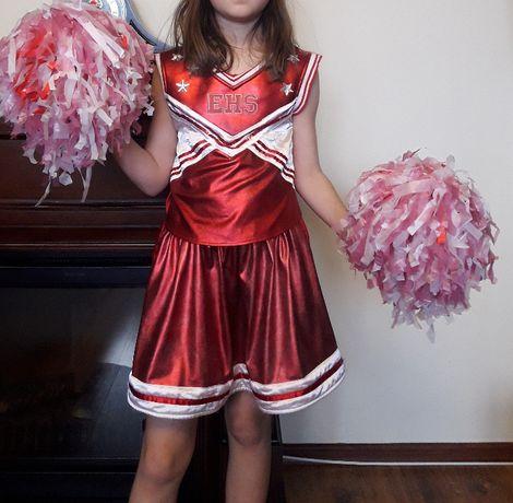 Strój karnawałowy cheerleaderka