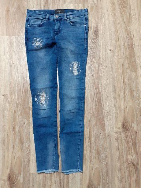 Spodnie jeansowe rurki Mohito