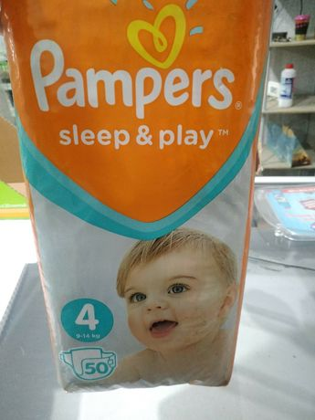 Подгузники памперс sleep & play 4 , 50 шт