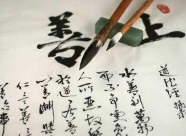 Zestaw chińskiej kaligrafii pędzli farba