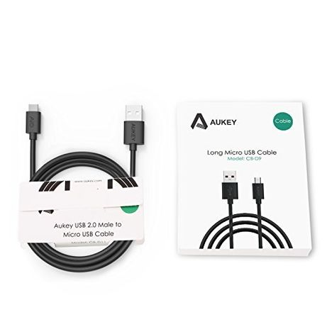 Kabel Aukey CB-D9 microUSB 2m 5A czarny NOWY