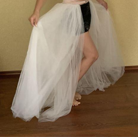 Фатиновая свадебная юбка полусолнце