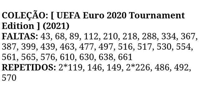 Euro 2020 - troca de cromos - 4/Jul