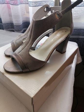 Półbuty sandały damskie eleganckie