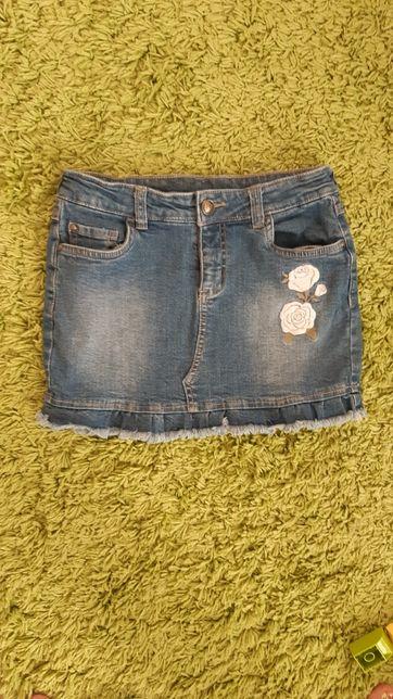Джинсовая юбка 134 см