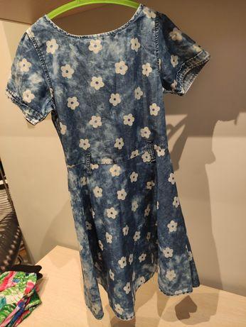 Sukienka z delikatnego jeansu dla dziewczynki 128-134