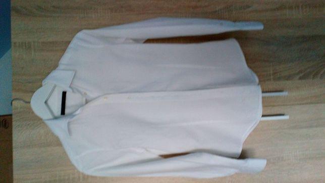 Klasyczna biała bluzka Zary rozmiar S
