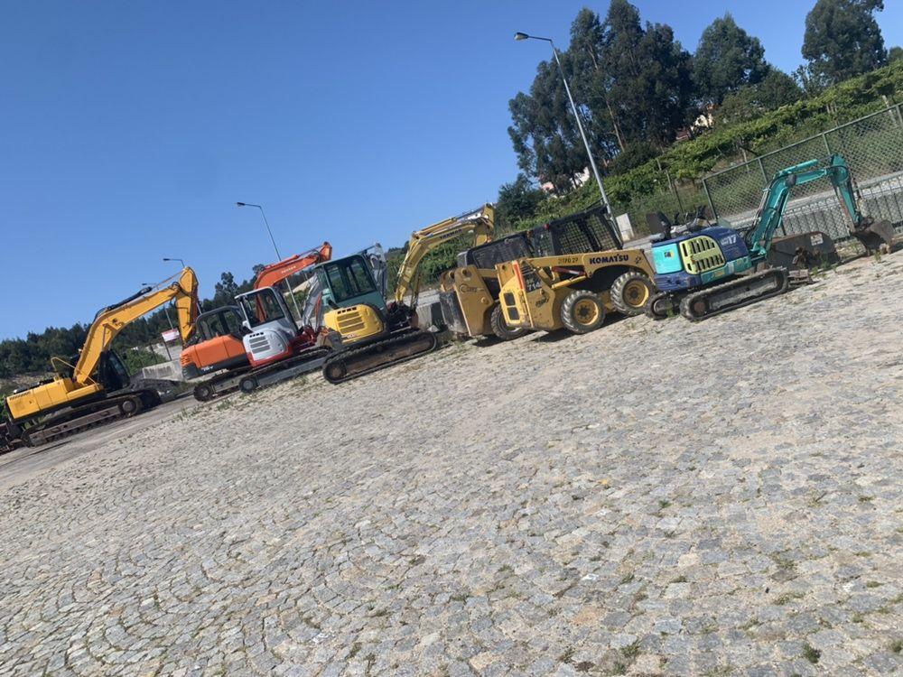 Máquinas, escavadoras, cilindros Aluguer/ venda equipamentos