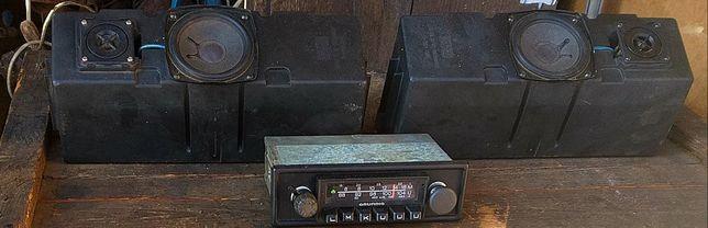 Radio samochodowe monokanalowe grundig plus kolumny Sony