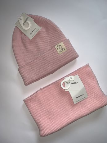 Набор шапка и хомут на девочку 12-24 reserved zara hm