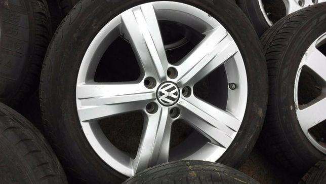 Alufelgi 5x112 do VW B6, B7,CC, Turan i opony letnie Dunlop 235/45/R17
