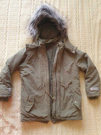 Куртка-парка 116 р. для дівчинки