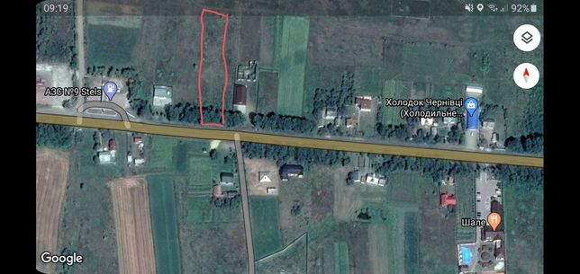 Земельна ділянка комерційного призначення  37,5 сотки, с. Шипинці