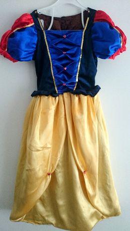 sukienka na bal strój Śnieżka Kopciuszek Zła królowa 140