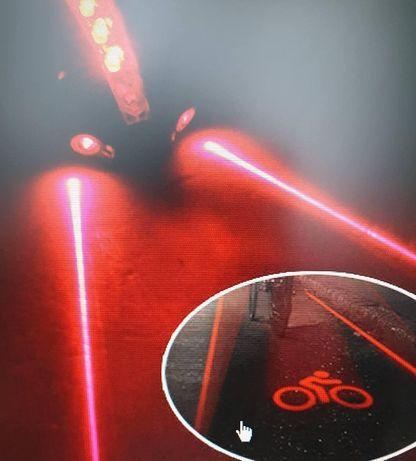 Стоп с лазером на велосипед