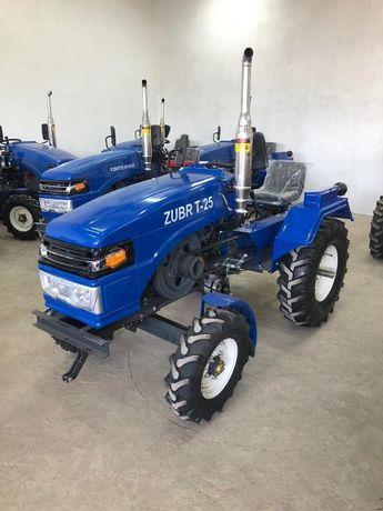 Новый, оригинальный трактор ЗУБР Т-25 + плуг и фреза 140 см