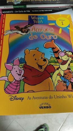 Livros Disney Ursinho Winnie Livro da Selva Dama e Vagabundo Rei Leão