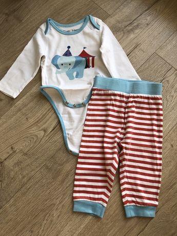 Zestaw niemowlęcy body i spodenki r 74