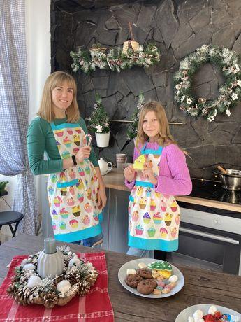Фартушки «Кексы», текстиль для дома, текстиль для кухни, фартух