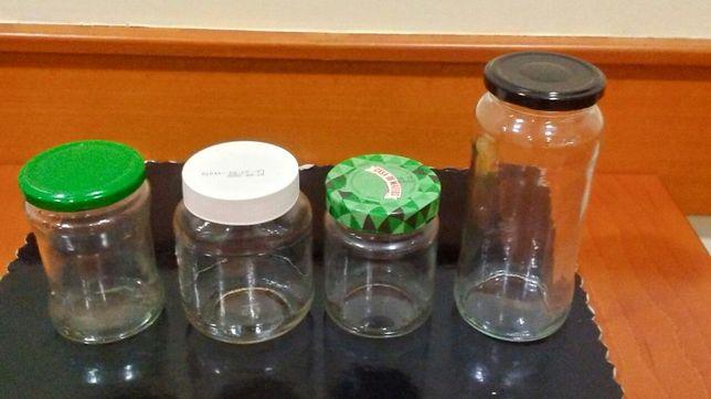 Vendo frascos de vidro a 0,20 € cada um