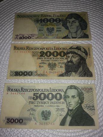 Banknoty prl z serii a i aa