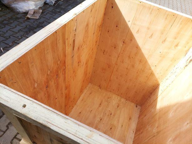 Duża donica z drzewa doniczka z drewna ze sklejki Sklejka kompostownik