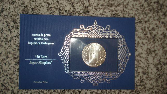 Moedas prata 25 abril 1974 e 10 euro