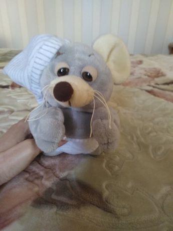 Мышонок house of teddy мышка мягкая игрушка