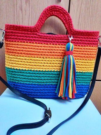 Torebka duza na ramię CLASSIC BAG,dowolne kolory,z paskiem i podszewką