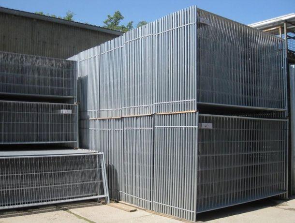 Ogrodzenie budowlane tymczasowe panel ażurowy 3,5 x 2 m panelowe