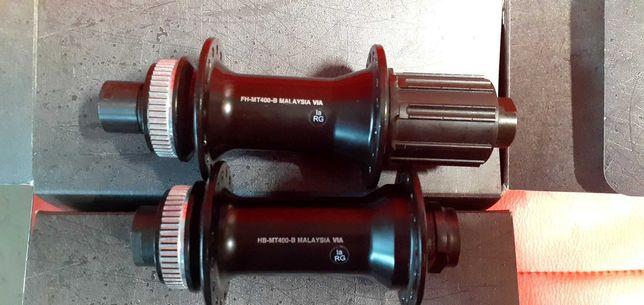Piasty shimano przód hb-mt400-b tył fm-mt400-B boost deore slx xt xtr