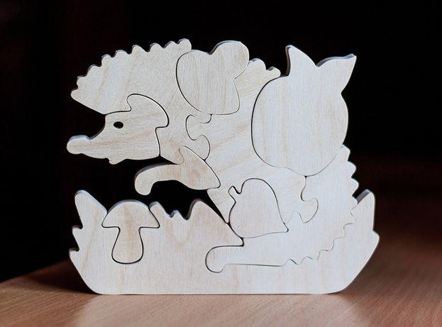 Пазл- раскраска Ежик игрушка развивашка