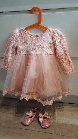 Śliczna nowa sukienka na ważną uroczystość rozmiar 80