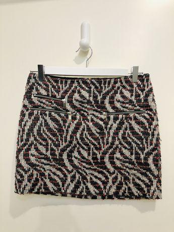 Minissaia Zara em tweed tam. S