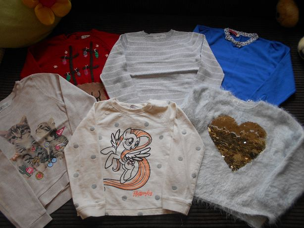 Sweterek bluza next H&M Disney zestaw 116