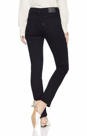 Levis mid rise skinny джинсы оригинал черные узкие 27 28 29 30