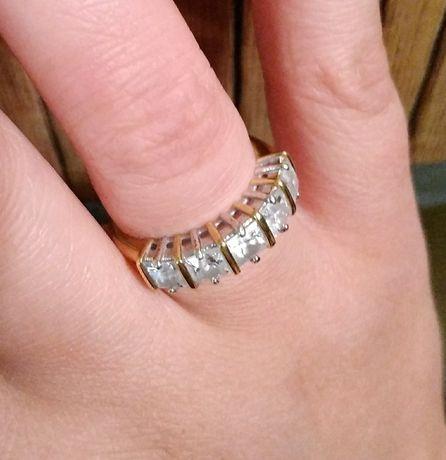 Кольцо позолота с камнями Сваровски Mark Spencer