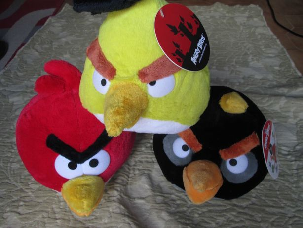 3 peluches da coleçao Pingo doce; (Hugry Birds )