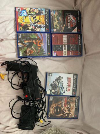 Jogos PlayStation 2 + gun
