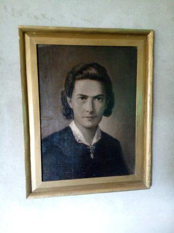 Obraz olejny na płótnie Hanna Pachniewska Bentley PRL