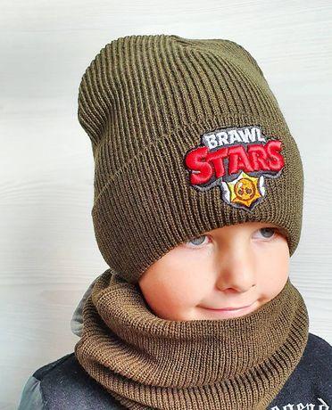 Зимнтй комплект  Brawl Stars  шапка хомути