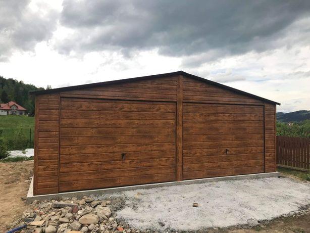 GARAŻ BLASZANY DREWNOPODOBNY PREMIUM garaże drewnopodobne blaszane aa