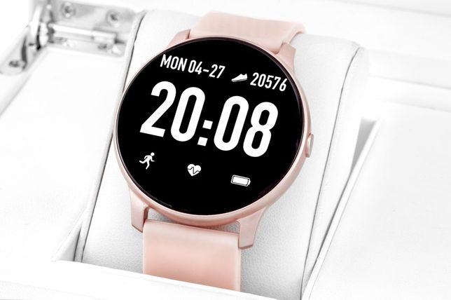 Smartwatch Rubicon 40 róż biały puls kroki PROMOCJA